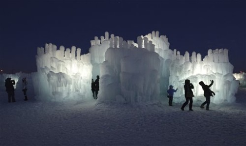 APTOPIX Minnesota Daily Life Ice Castle