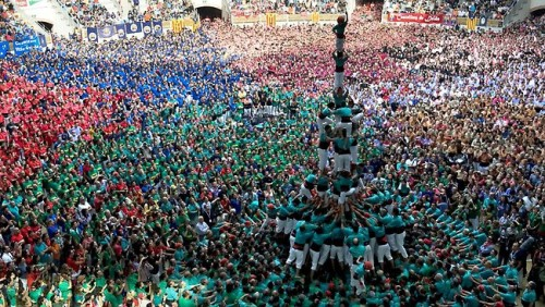 Tarragona Spain human tower competition