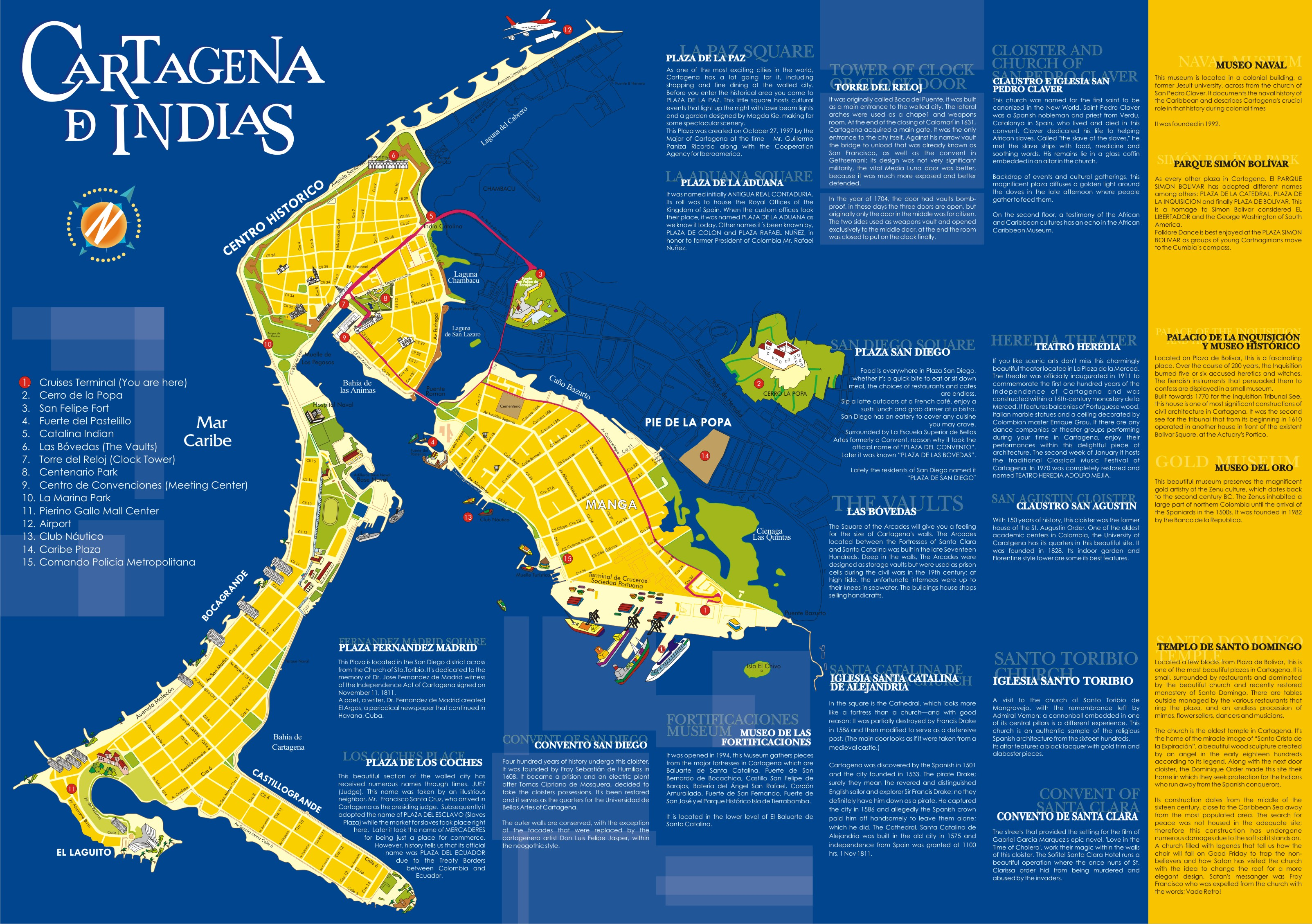 the tale of two cities – cartagena colombia – globetrotting couple - cartagenaoverviewmap
